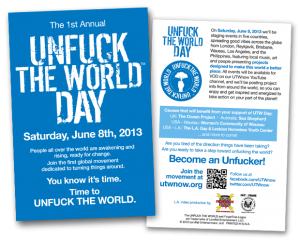 Unfuck The World Day Postcard