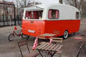 Valentijn's sweet little food trailer